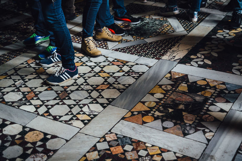 Body Part Human Body Part Human Foot Human Leg Leisure Activity Lifestyles Low Section Museum Outdoors People Real People Shoe Standing Tiled Floor Vatican Museum