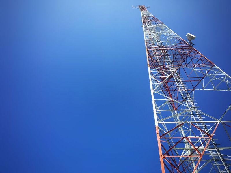 Telco tower Bluesky Blue Sky Blue Cloud Sky 4g Phone Cellular Communication Telco Johor