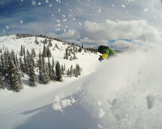 Skiing pow. Backcountry Backcountry Skiing Skier Powder Powder Skiing Powder Turn Ski Pow Ski Holiday Vacation Vacations Wintertime Winter Wonderland Tree Mountain Snow Ski Holiday Winter Motion Forest Sky Pinaceae Spraying Deep Snow Ski Slope Snowcapped Mountain Ski Track Skiing Powder Snow Ski Resort