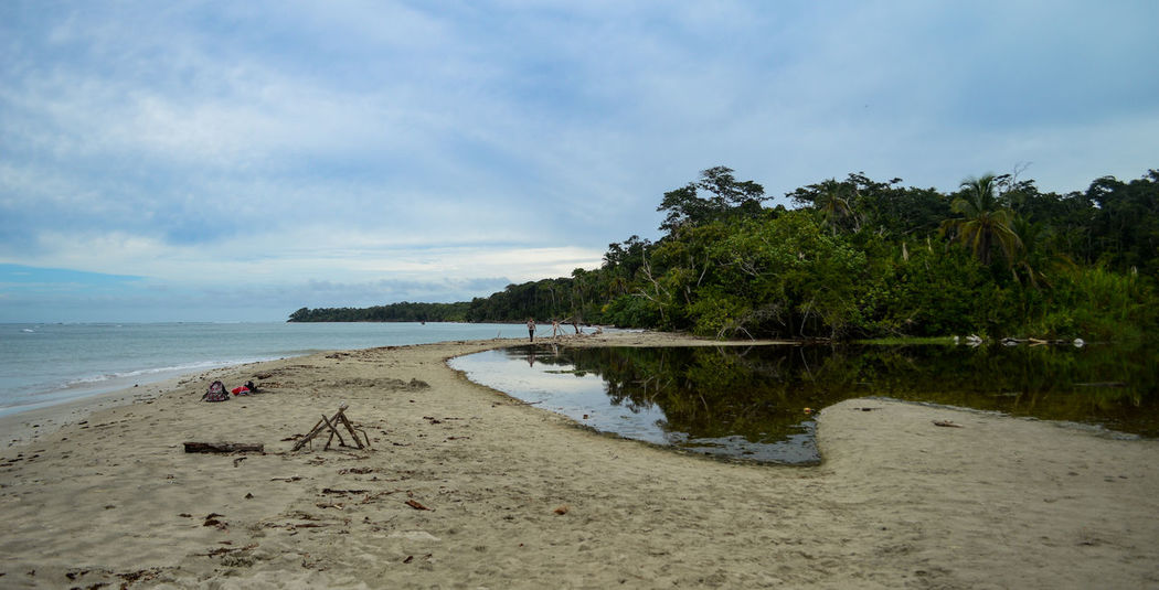 Cahuita National Park Costa Rica Beach Beauty In Nature Cahuita Cloud - Sky Day Nature No People Outdoors Sand Scenics Sea Sky Tranquil Scene Tranquility Tree Water
