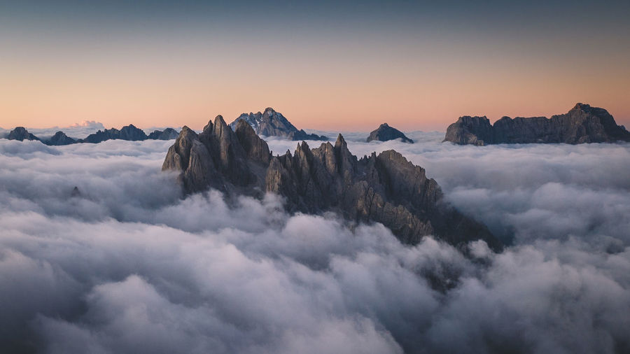 High above the dolomites, italy.