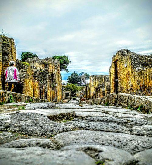 Herculaneum Italy Italia Naples Napoli Scavi Excavation Vesuvio Vista