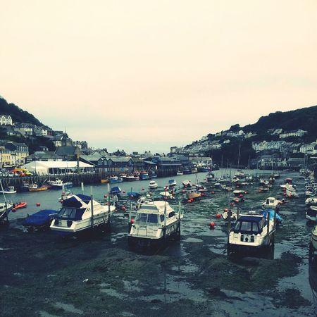 Boats Coastline Harbour Cornwall Looe