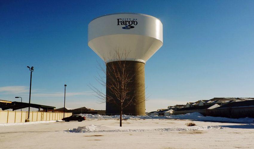 January 17, 2016 QVHoughPhoto FujiFilmX100 Fargo Northdakota Cold Winter Watertower Cityscapes MidWest