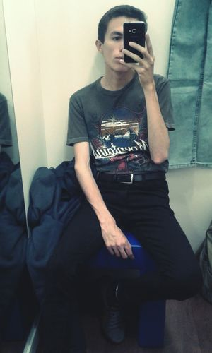 Sitting Tumblr Selfie One Person Young Adult Teen Skinny Legs Skinny Boy  Ugly Boy Pale