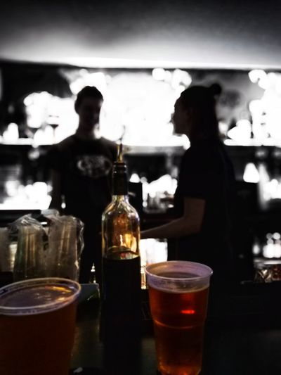 Alcohol Drink Cold Temperature Cola Drinking Glass Wine Table Bottle Bar - Drink Establishment Wine Bottle Beer Glass Lager Craft Beer Bartender Bar Counter