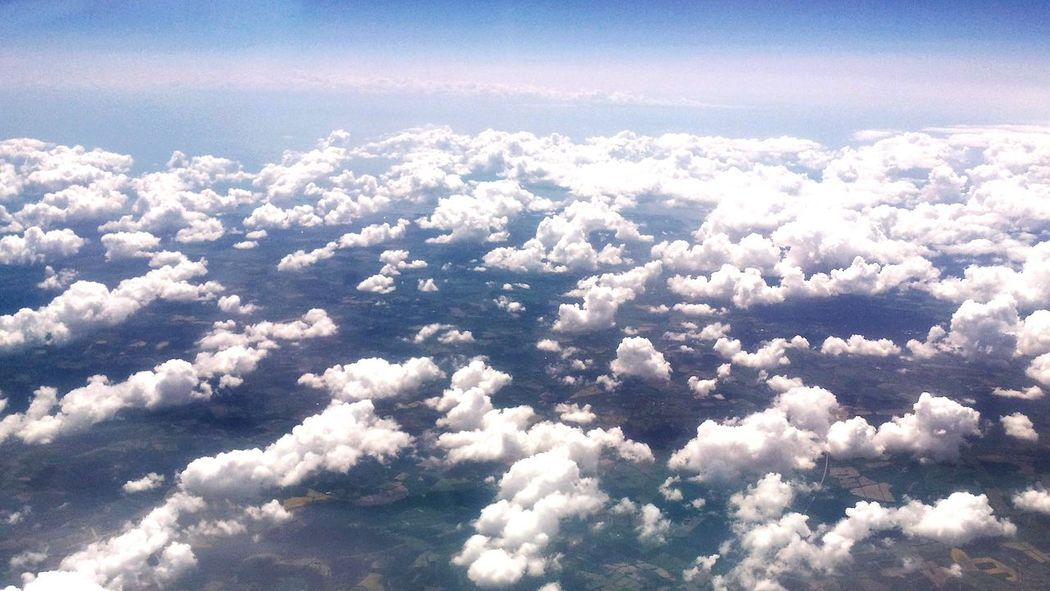 Cloud - Sky Blue Sunny Sky Outdoors Travel Beauty In Nature