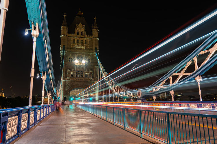 Illuminated Night Architecture Built Structure Travel Destinations Building Exterior Tourism Long Exposure Transportation Motion Travel Light Trail Bridge City Bridge - Man Made Structure Connection Speed Blurred Motion Incidental People Outdoors EyeEm Best Shots Eye4photography  London