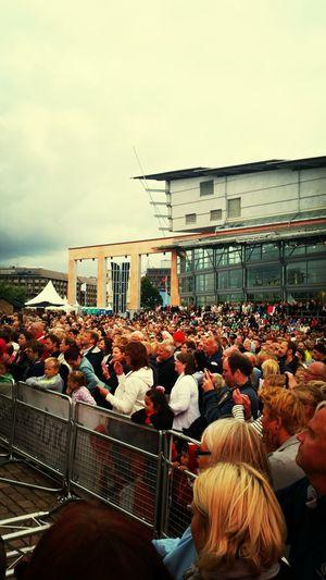Lot's of People Watching Swedish Karoliner My Town