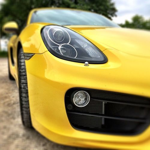 #porsche #cayman #car #sportscar #fun #thebetter911 #yellow #beast