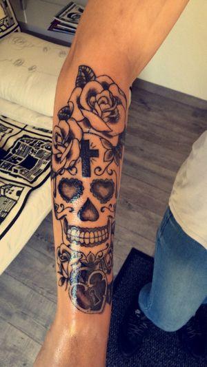Tattoo just finish 💉👍🏻 That's Me Tattoo Armtattoo Skull Tattoos Ink Inked Girlswithtattoos Tattooed Beautiful