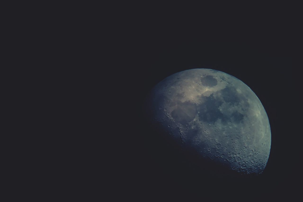 moon, moon surface, astronomy, night, space, planetary moon, space exploration, beauty in nature, nature, tranquility, tranquil scene, discovery, scenics, no people, half moon, outdoors, satellite view, sky, close-up