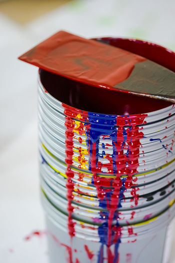 Close-Up Of Paint Can