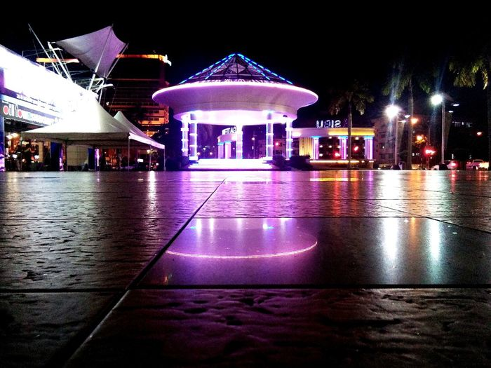 Night Illuminated Reflection Architecture Built Structure Building Exterior City Outdoors Water No People Casino Cityscape Sibutown Sarawak Sibu Gateway