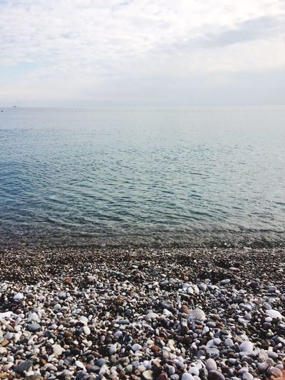 Sea Beach Water Nature Shore Sky Pebble Beauty In Nature Horizon Over Water Tranquility Tranquil Scene No People Day Konyaalti Falez Antalya Scenics Pebble Beach Outdoors Coastline Sand