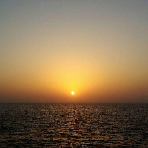 Sunset Sea Sun Scenics Horizon Over Water Water Beauty Sky Outdoors Beauty In Nature Nature No People Egypt Mediterranean  Mediterranean Sea Alexandria Egypt Sun ☀ Beautiful Nature First Eyeem Photo