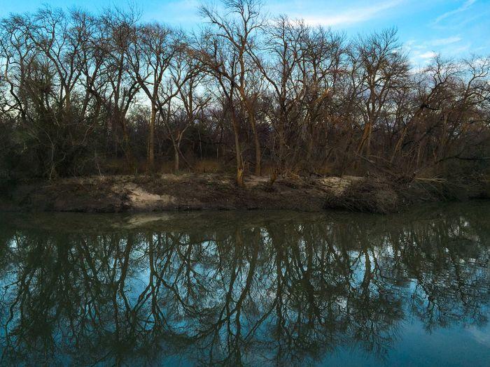 Hidden landscape inside Campión Trail. Landscape Nature Las Colinas  Irvingtx Dallas Texas Skyporn