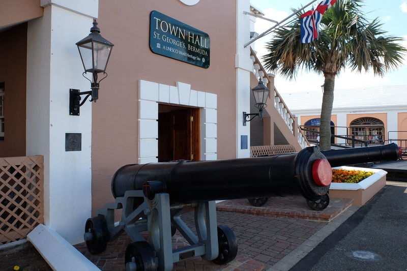 Canons Architecture Bermuda Building Exterior Built Structure Close-up Day No People Outdoors St.George´s Town Hall