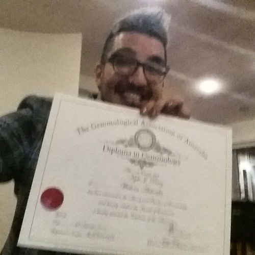 I'm a Gemmologist ! The paper says so! Graduation Imascientist Gemmology