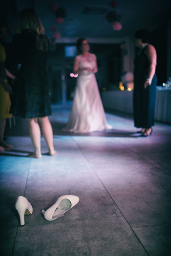 Bride Cinderalla Dance Dancing Illuminated Night Real People Shoes The Bride's Shoes Wedding Wedding Dress Wedding Photography Women