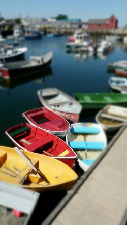 Motif 1 Rockport Harbour Rockport, Ma Usa Colorful Boats By The Sea Iconic Landmark Iconic Massachusetts Film Location EyeEm Eyeemphotography EyeEm Gallery Tilt-shift Colour Of Life