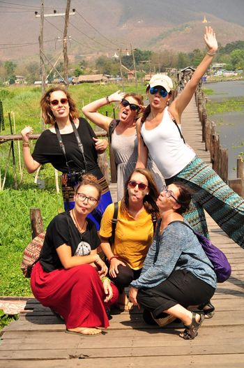 Inle Lake Photopackers Oksk Myanmar Sunglasses Fashion Glasses Group Of People Smiling Togetherness Emotion People Positive Emotion