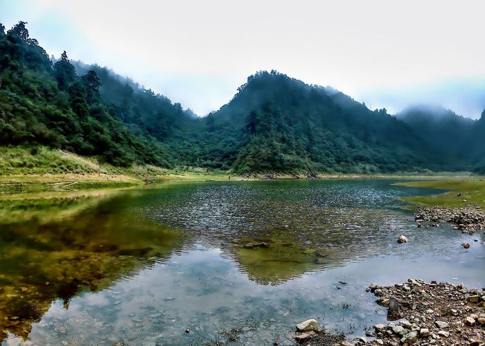 Mountain Water Reflection Lake Nature Tree Landscape Scenics No People Outdoors Mountain Range Pinaceae Beauty In Nature Day Sky Irrigation Equipment