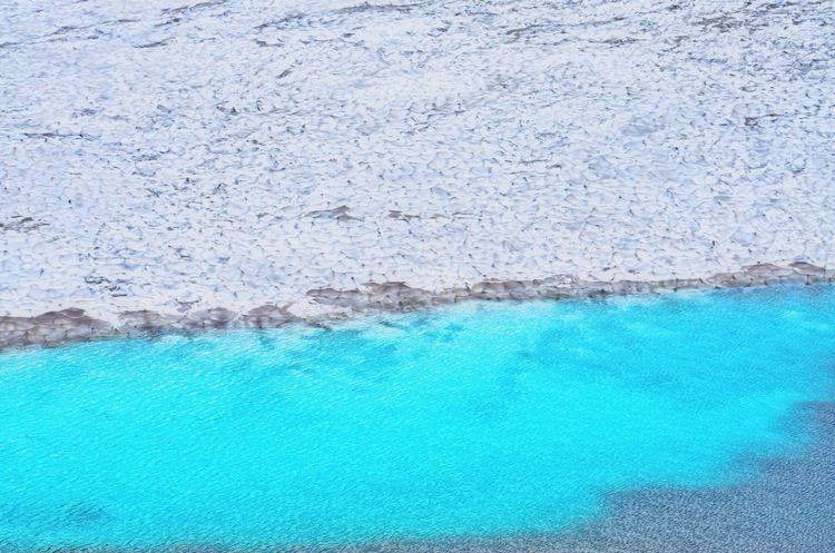 Mountain Melting Snow Lake Blue