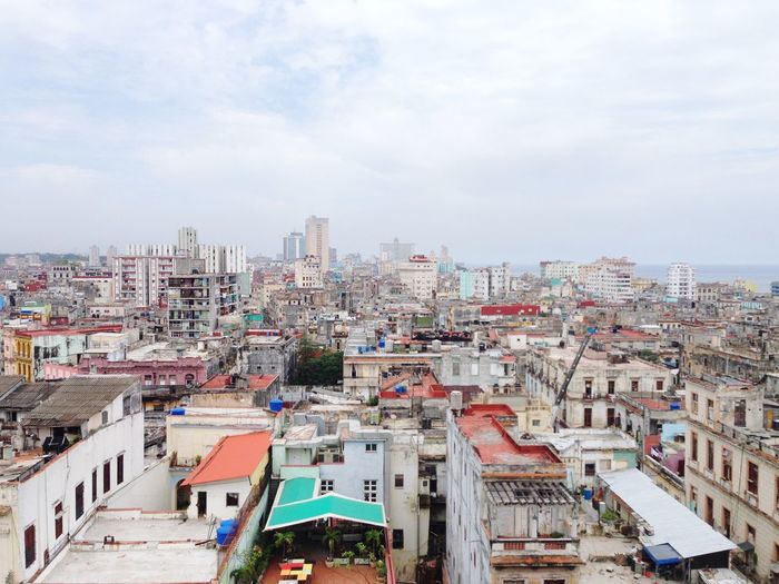 Havana from above #cuba #havana #views Building Exterior Built Structure Crowded Sky Day Cityscape
