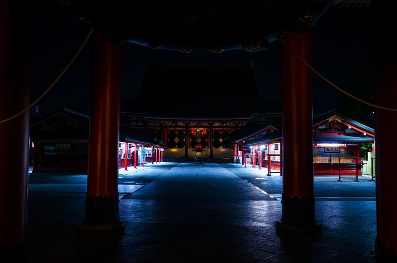 Interior of torii gate