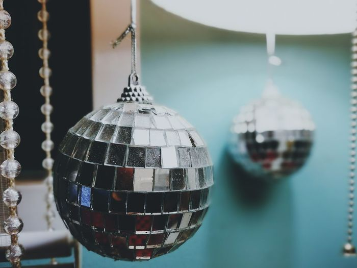 Hangging disco ball! The symbolic of entertainment around my men cave! Discoball Entertainment Close-up Color Calm