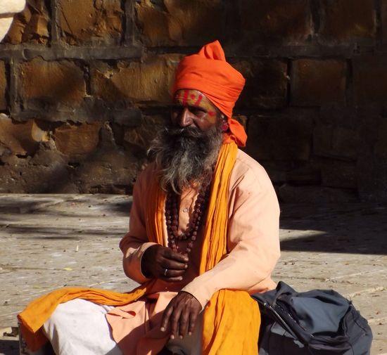 Hanging Out Taking Photos Portrait Indian Man India Sadhu