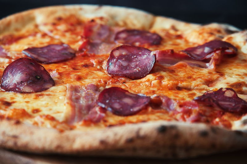 Close-up of pizza