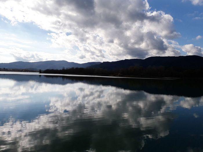 Banyoles Catalunya Girona Catalonia Estany De Banyoles Water Mountain Lake Power In Nature Reflection Dramatic Sky Sky Landscape Cloud - Sky