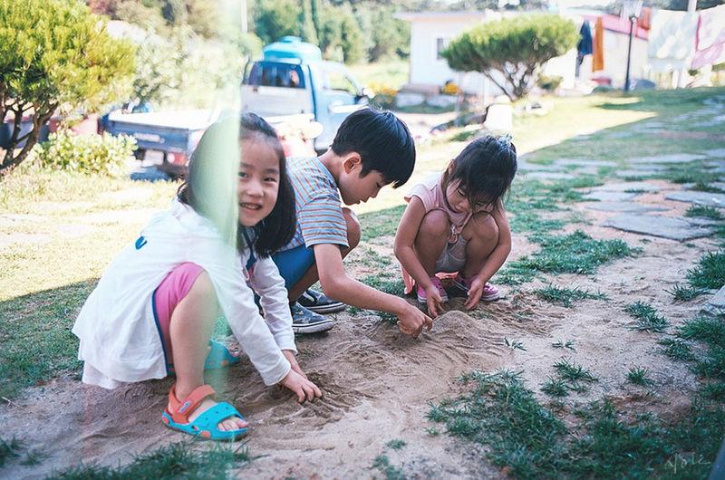 play time. Playground Babygirl Babyboy LeicaM7 Film Kodak Ektar