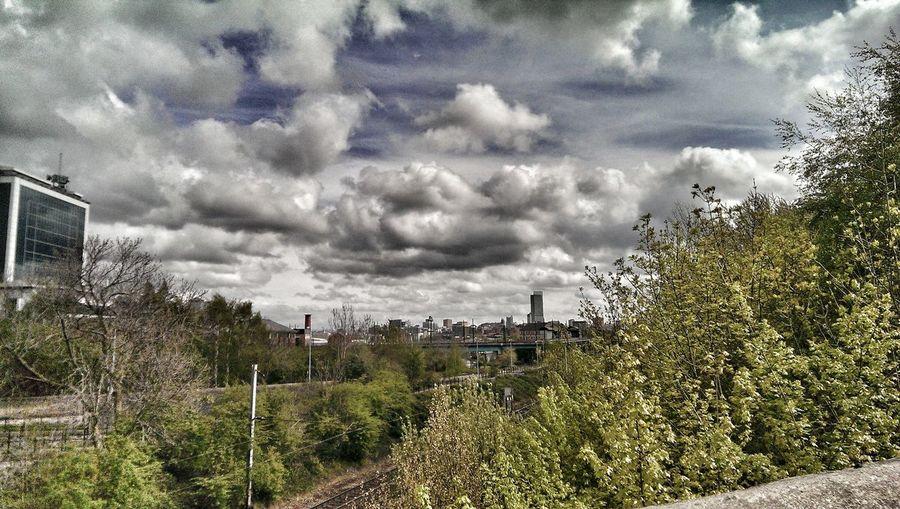 Skyline Landscape Clouds Salford