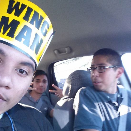 With the squad at buffalo wild wingsCanteatnomore Happy Wingman BuffaloWildWings squad