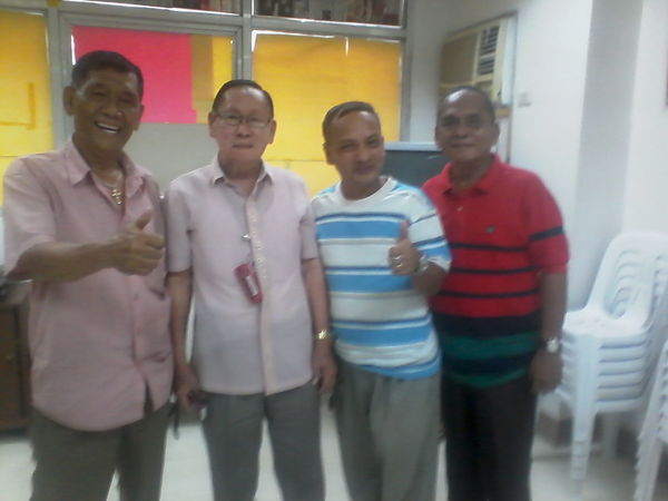 Past Comelec Commisioner Amado M. Calderon, Mr. P. Pilapil, Mr. Gaerlan and Me at west avenue office.Quezon City. Relaxing Hi! Hello World That's Me