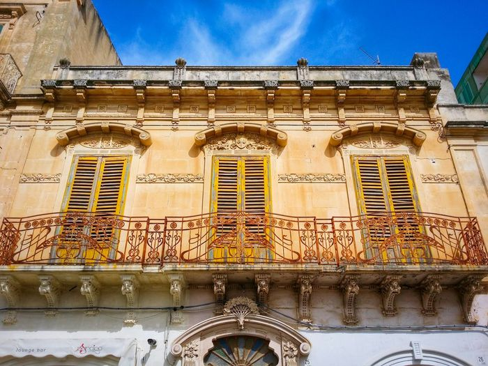 Avola Sicily Italy Travel Photography Travel Voyage Traveling Mobile Photography Fine Art Architecture Art Nouveau Sunny Light And Shadows Sky Mobile Editing