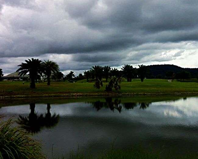 Capture The Moment Pattana Golf Club And Resort My Hometown Golfcourse Golf Is My Life ⛳️ Water Reflections Sky Clouds EyeEm Nature Lover Beautiful Nature