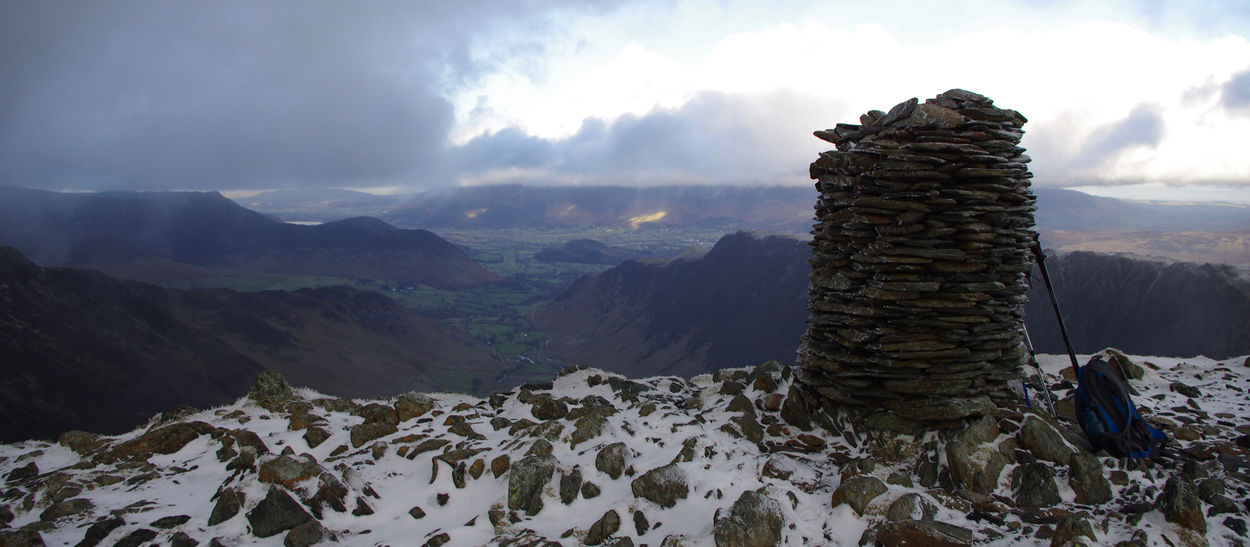 Beauty In Nature Clouds Cumbria Day England Hiking Landscape Landscape_Collection Mountain Mountains Mountains And Sky Nature No People Outdoors Pile Of Stones Sky Snow The Lake District  Travel Destinations