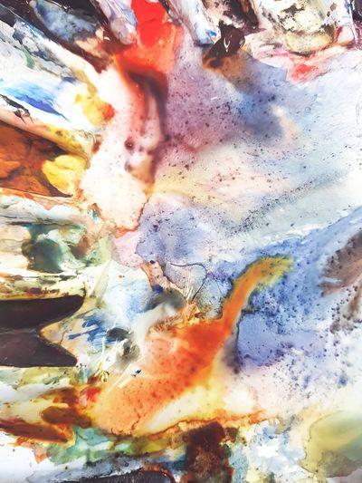 watercolour paint palette Palette Palette Colors Paint Wetpaint Color Colour Paintpalette Full Frame Pattern Backgrounds Textured  Close-up Art And Craft Paint Water Orange Color Vibrant Color