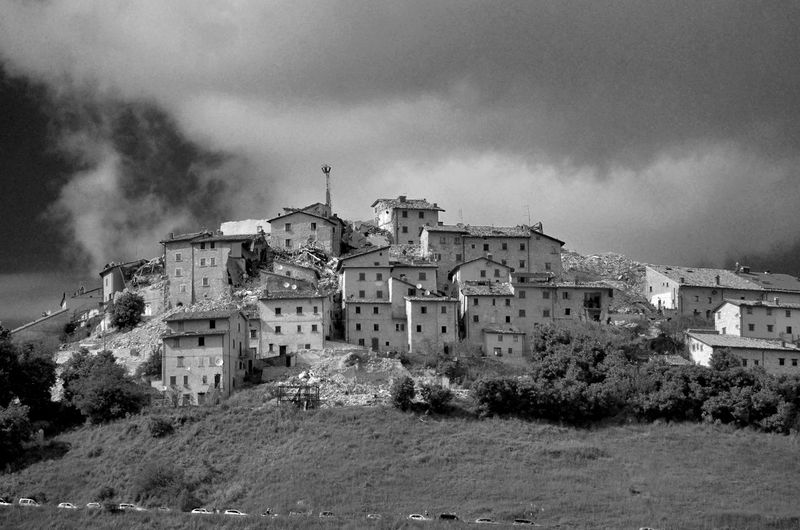 Architecture Building Building Exterior Built Structure Cloud - Sky Day Earthquake Earthquake Area Earthquake In Italy Hearthquake Heartquake History House No People Old Outdoors Sky