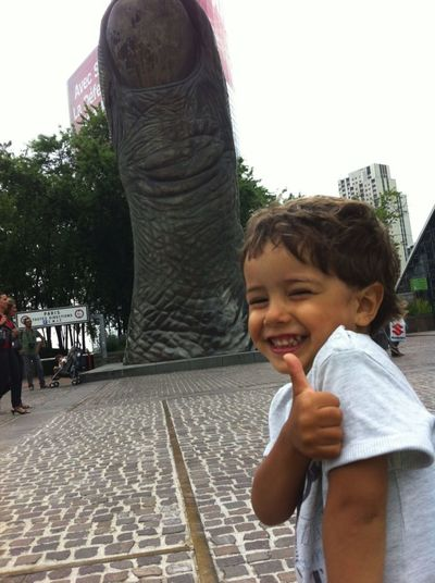 Childhood Finger Grande Arche High Rise Sculture Smiling Thumb Thumbs Up