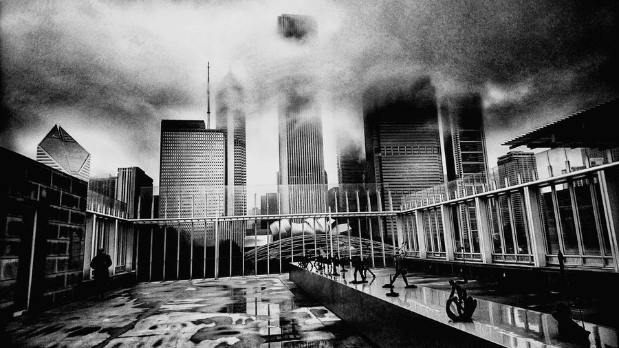 Architecture Built Structure Building Exterior City Skyscraper Cloud - Sky Outdoors No People Sky Urban Skyline Cityscape Day Modern Black And White Friday EyeEmNewHere Holiday Moments It's About The Journey The Art Of Street Photography