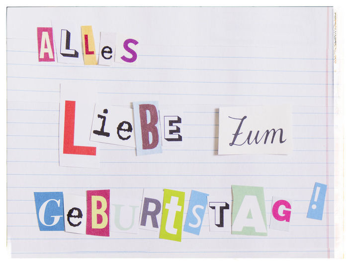 Alles Liebe zum Geburtstag Alles Liebe Funny Geburtstag Geburtstagskarte Happy Birthday Karte Liebe Alles Alles Gute Zum Geburstag Birthday Birthday Card Birthday Greetings Card Greeting Card  Greetings Lustig No People Paper Text White Background