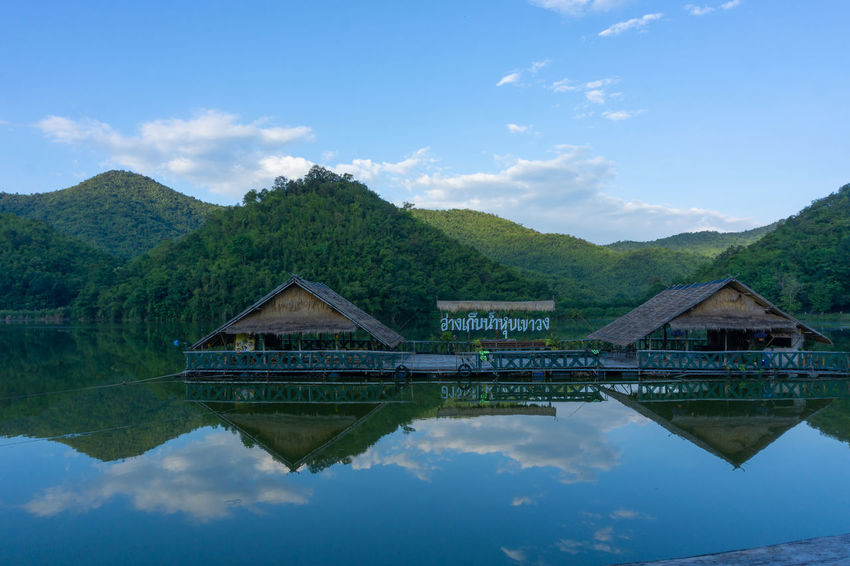 Water Reflection Sky Architecture Mountain Cloud - Sky Nature Lake Built Structure No People Building Exterior Day Tranquility House Building Waterfront Scenics - Nature Beauty In Nature Tranquil Scene Outdoors