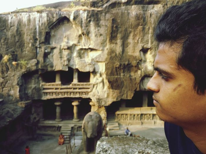 Ellora_caves Historical Monuments Akshayas Archaeology Travel One Person Travel Destinations Headshot Old Ruin Architecture Interesting Perspectives One Man Only History Building Exterior Ancient Vision Is Seeing Beyond What's In Front Of You