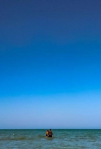 Water Clear Sky Sea Beach Blue Wave Awe Full Length Adventure