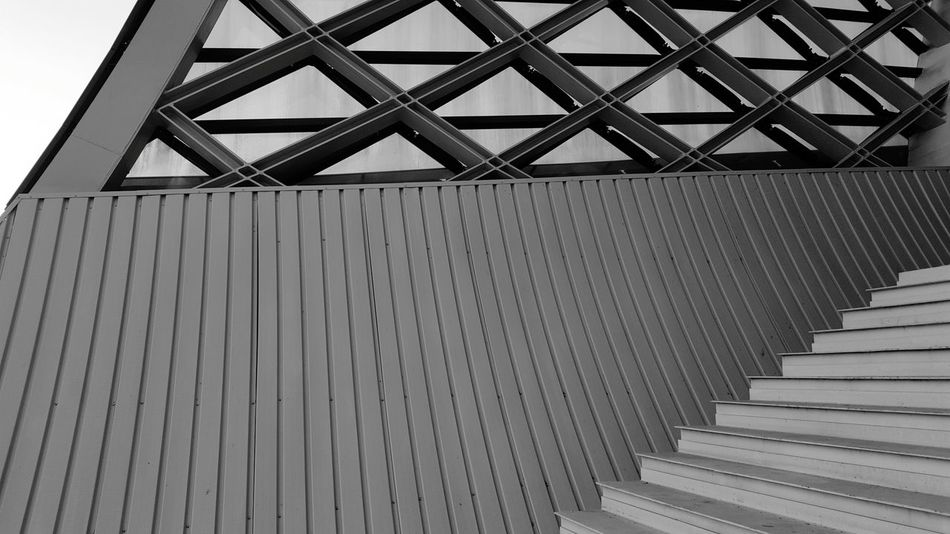 Geometry Architecture Architectureporn Architecture Model Design Stairs Stair Black And White Outdoor Nobody Building Best EyeEm Shot The Week On EyeEm Triangle Shape Abstract Pattern Modern Designs Tbilisi Georgia Construction Outdoor Photography Monochrome Photography The Great Outdoors With Adobe Black & White Friday